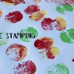 Fall Fun: Apple Stamping