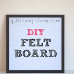 Quick and Easy Inexpensive DIY Felt Board