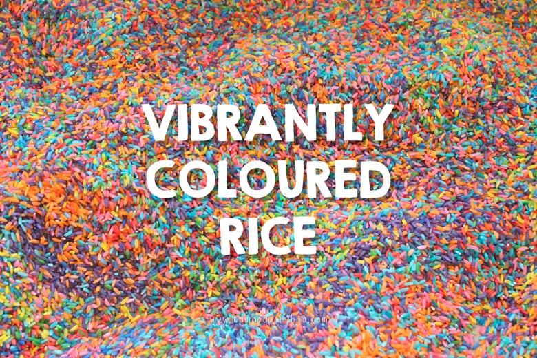 Vibrantly Coloured Rice | Mama Papa Bubba