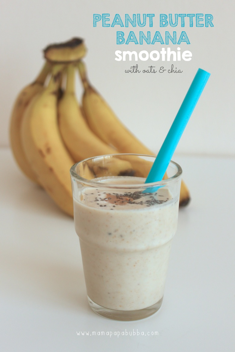 Peanut Butter Banana Smoothie | Mama Papa Bubba