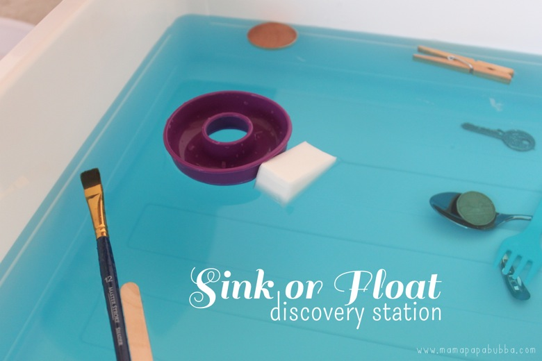 Sink or Float Discovery Station | Mama Papa Bubba