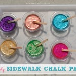 SPARKLY Sidewalk Chalk Paint