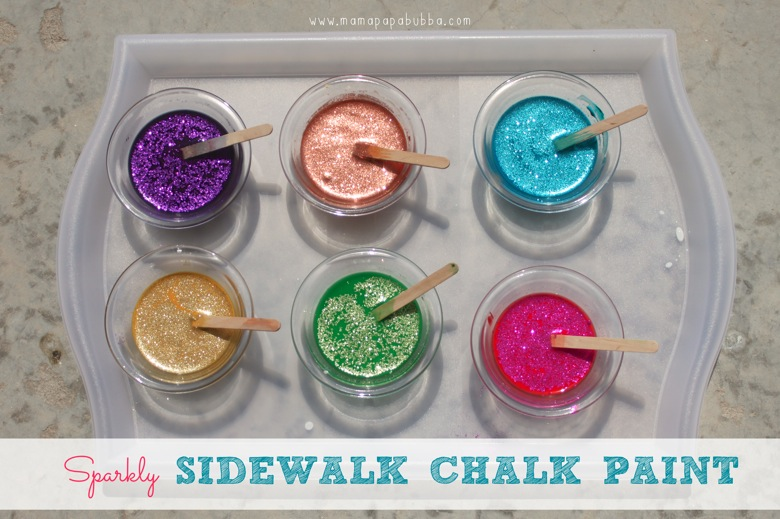 Sparkly Sidewalk Chalk Paint | Mama Papa Bubba