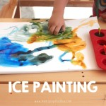 Taking Advantage of the Heat with Ice Painting