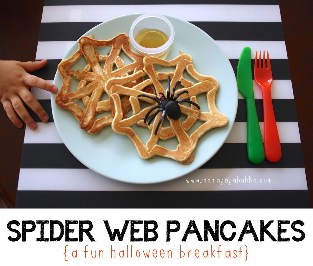 Spider Web Pancakes | Mama.Papa.Bubba.