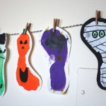 Halloween Footprint Bunting