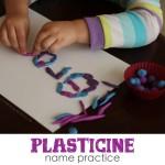 Plasticine Name Practice