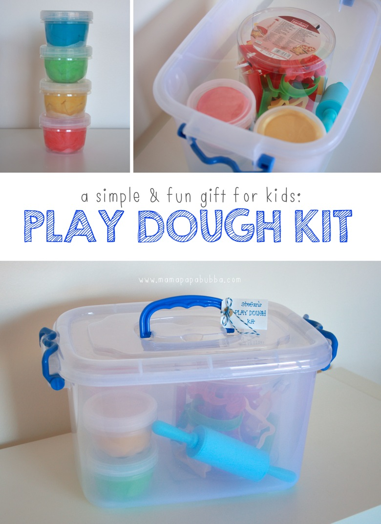 A Simple  Fun Gift for Kids Play Dough Kit | Mama Papa Bubba