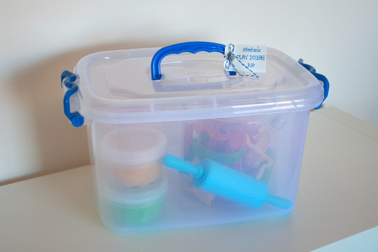 small plastic containers homemade play dough kit a simple and fun gift mamapapabubba