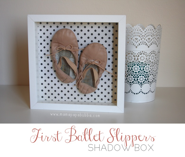 First Ballet Slippers Shadow Box | Mama Papa Bubba