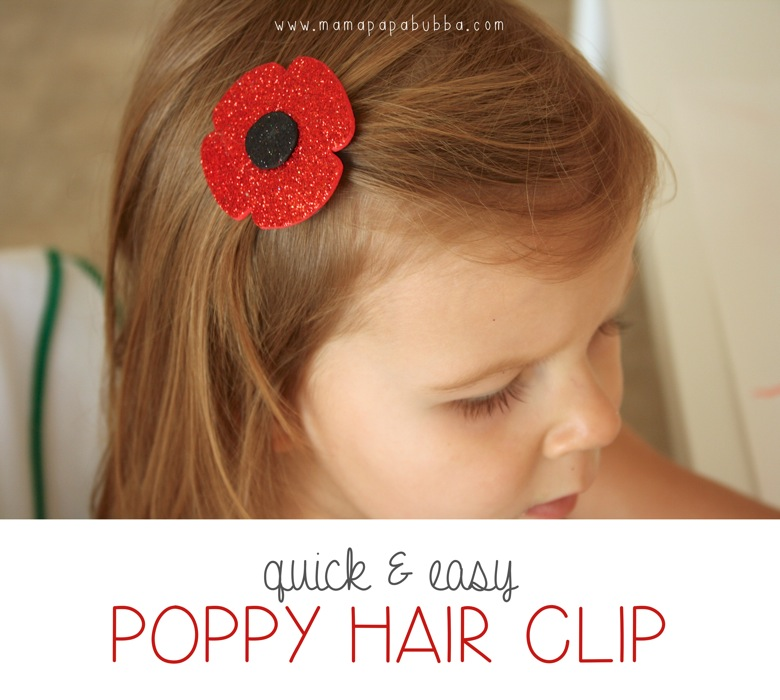 Quick  Easy Poppy Hair Clip | Mama Papa Bubba