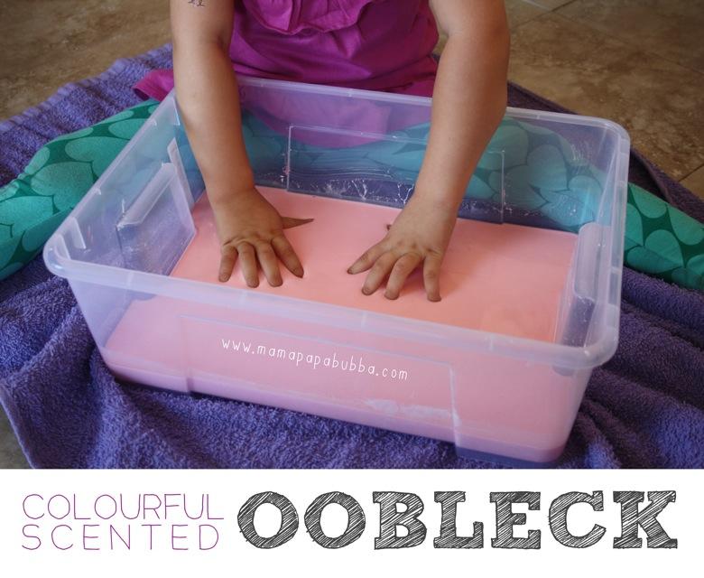 Colourful Scented Oobleck | Mama Papa Bubba