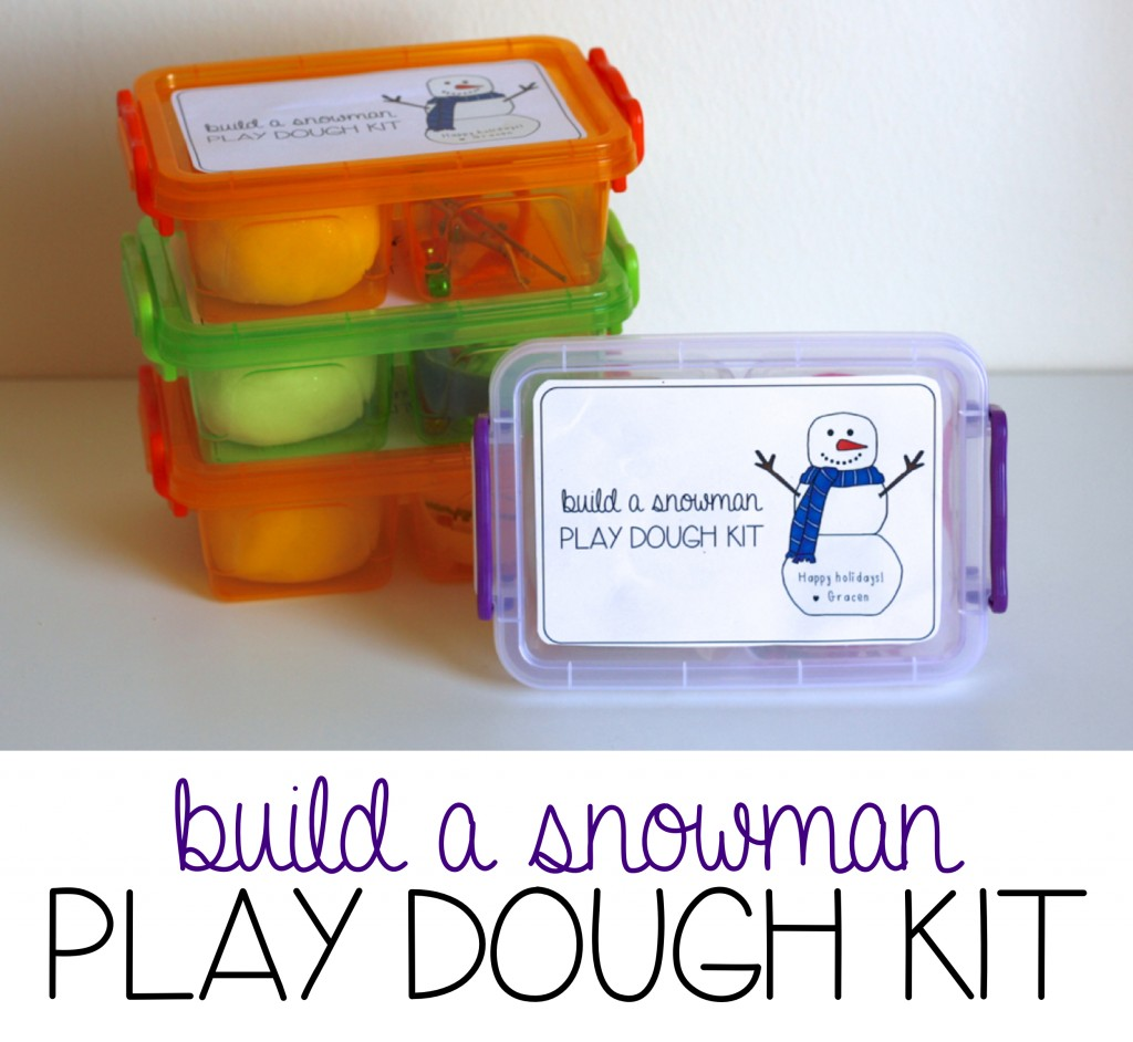 Build A Snowman Play Dough Kit
