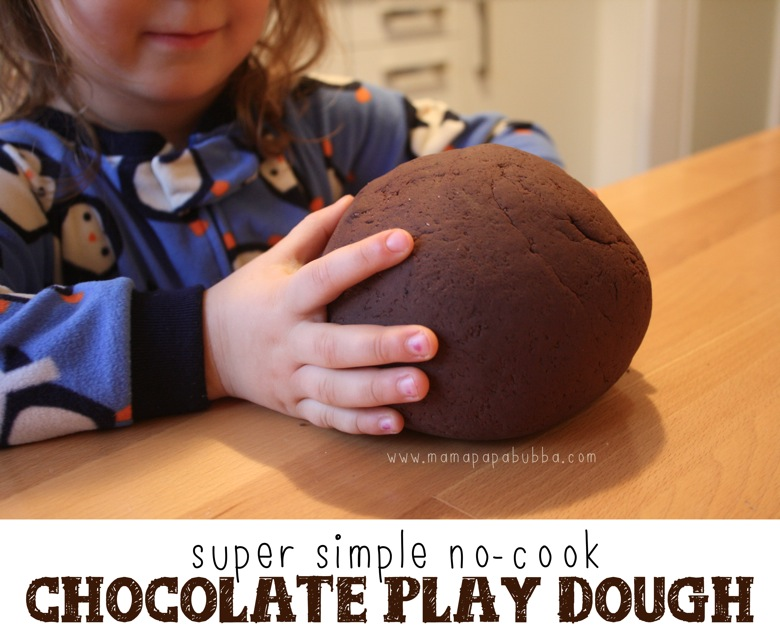 Super Simple No Cook Chocolate Play Dough | Mama Papa Bubba