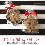 Gingerbread People Play Dough and Cookie Cutter Gifts