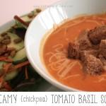 Creamy {chickpea} Tomato Basil Soup
