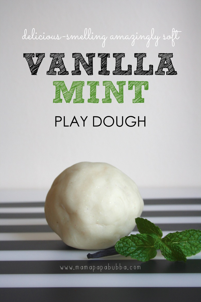 Delicious Smelling Amazingly Soft Vanilla Mint Play Dough | Mama Papa Bubba