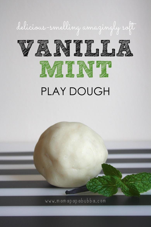 Delicious Smelling Amazingly Soft Vanilla Mint Play Dough | Mama Papa Bubba