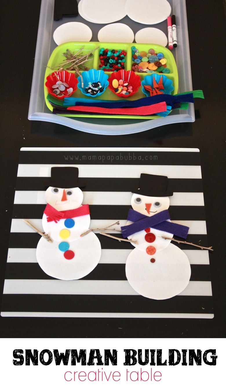 Snowman Building Creative Table | Mama Papa Bubba