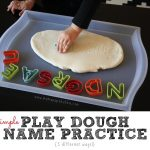 Play Dough Name Practice {3 ways}