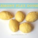 Lemony Play Dough