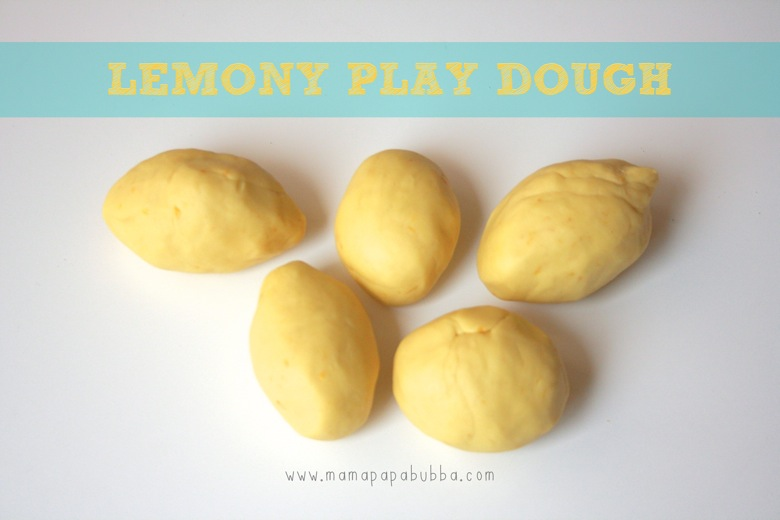 Homemade Lemon Play Dough | Mama Papa Bubba