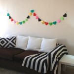 Simple Origami Heart Garland