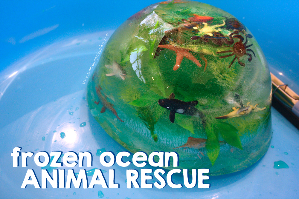 Frozen Ocean Animal Rescue Activity | Mama.Papa.Bubba.