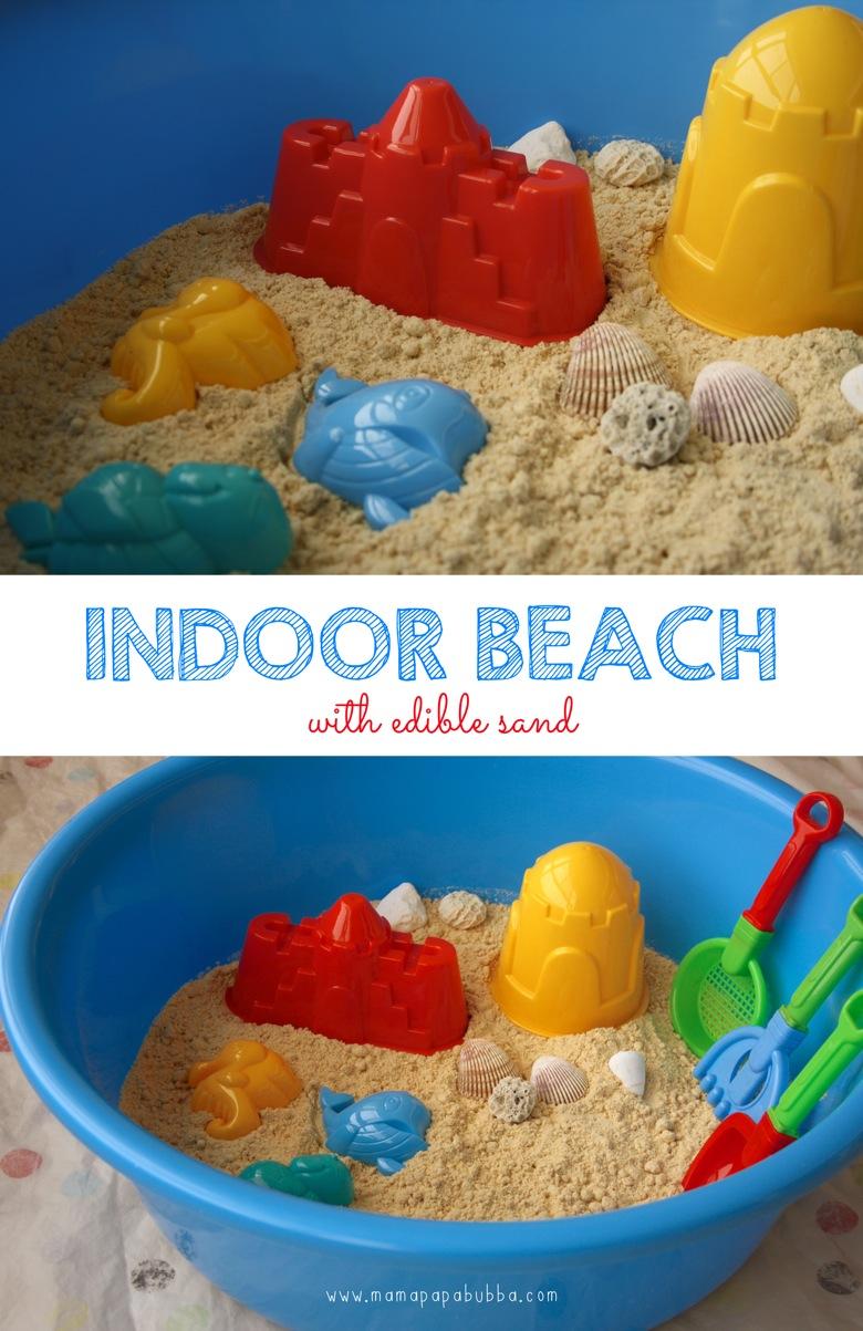Indoor Beach With Edible Sand | Mama Papa Bubba