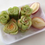 Flower Stamping With Celery and Potatoes