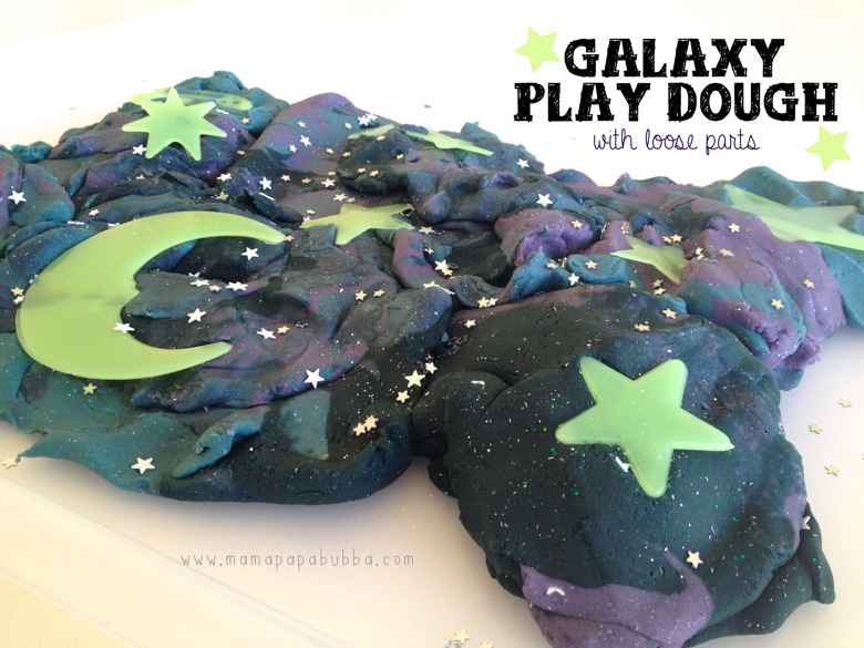 Galaxy Play Dough With Loose Parts | Mama Papa Bubba