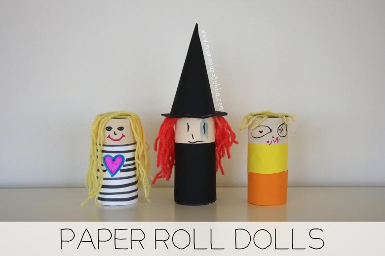 Paper Roll Dolls | Mama Papa Bubba