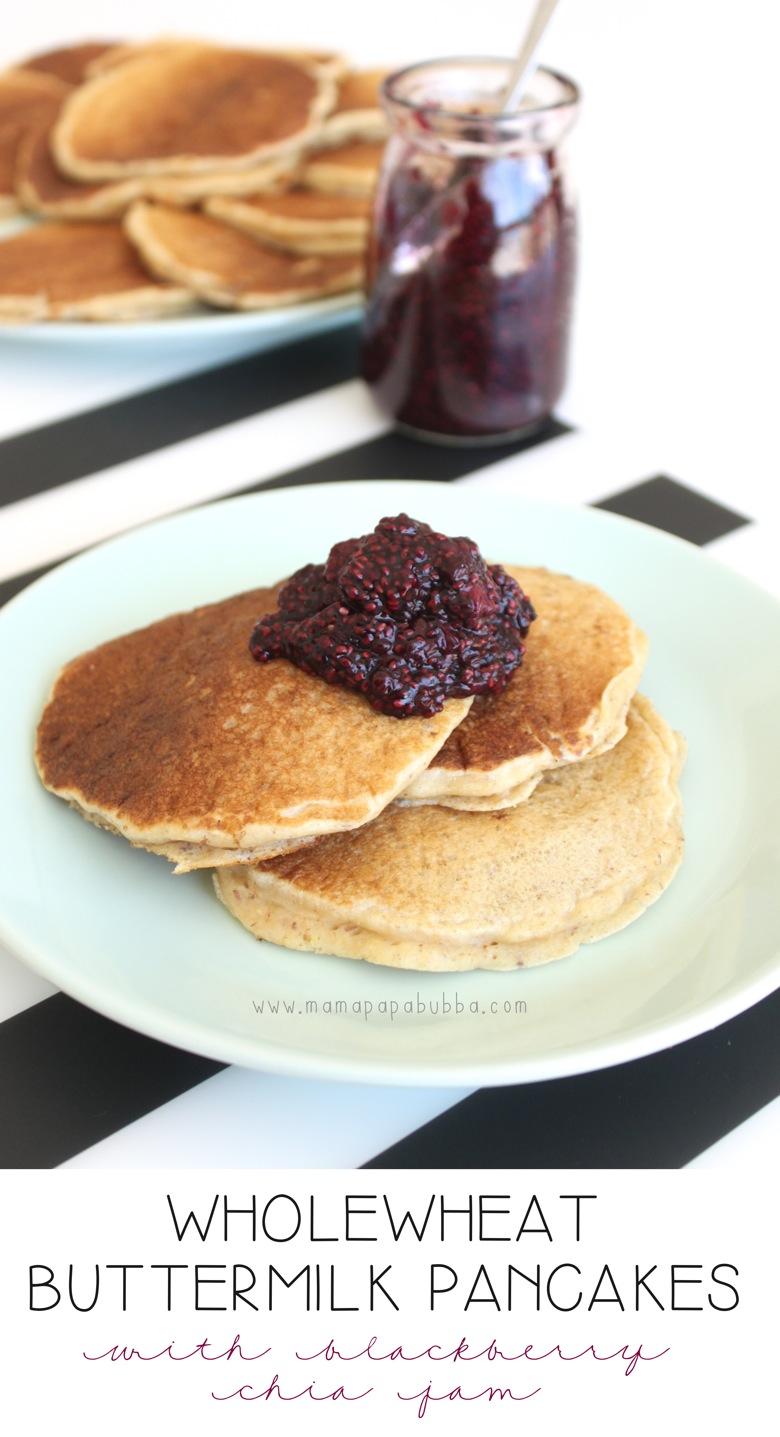 Wholewheat Buttermilk Pancakes | Mama Papa Bubba