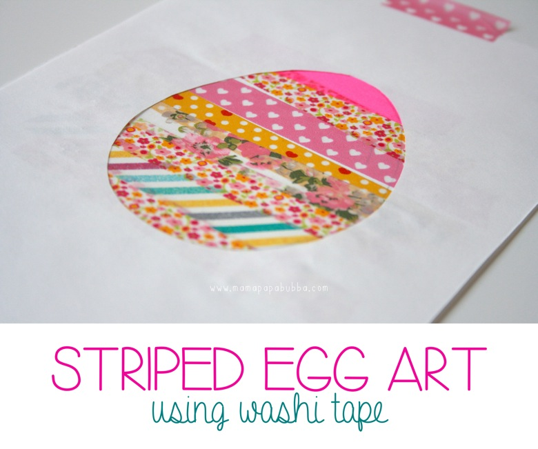 Striped Egg Art | Mama Papa Bubba