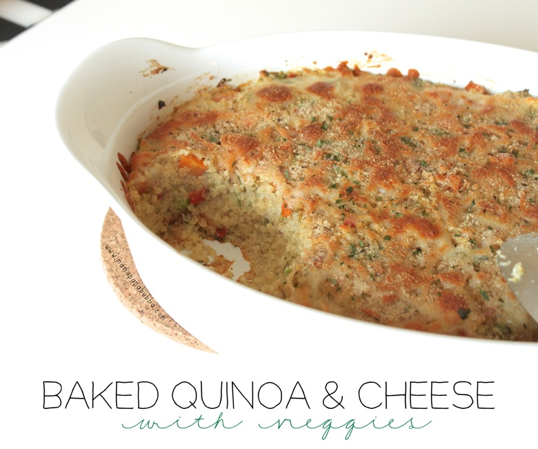 Baked Quinoa  Cheese With Veggies | Mama Papa Bubba