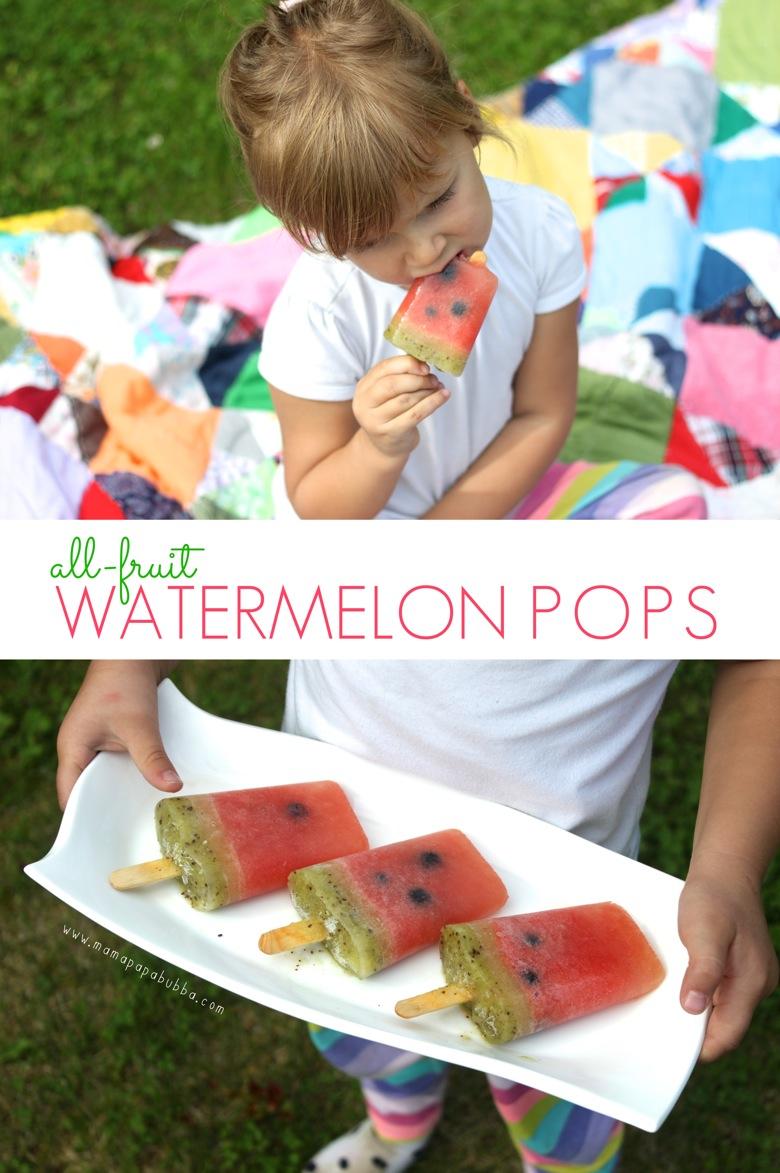 All Fruit Watermelon Popsicles | Mama Papa Bubba