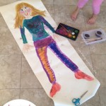 Life-Sized Self-Portrait {a family project}