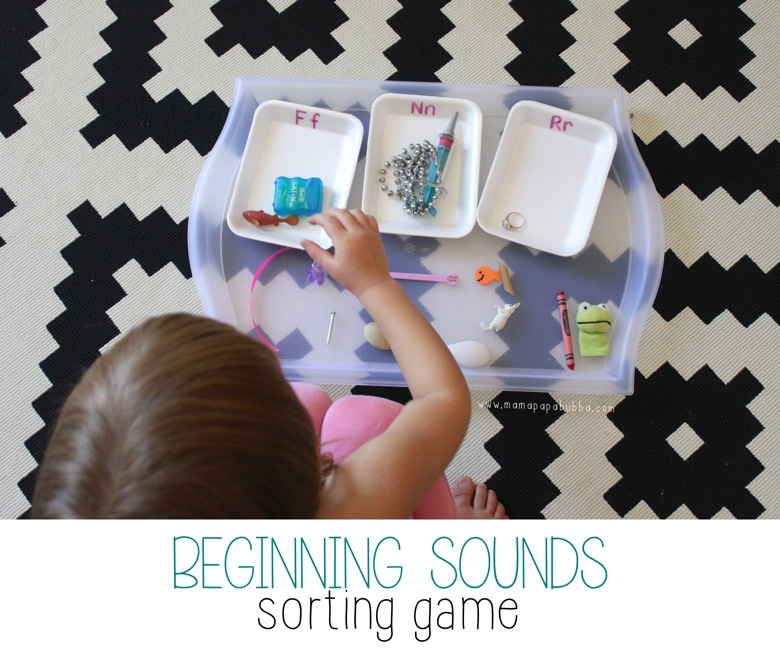 Beginning Sounds Sorting Game | Mama Papa Bubba