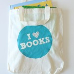 DIY Stencilled Library Book Bag