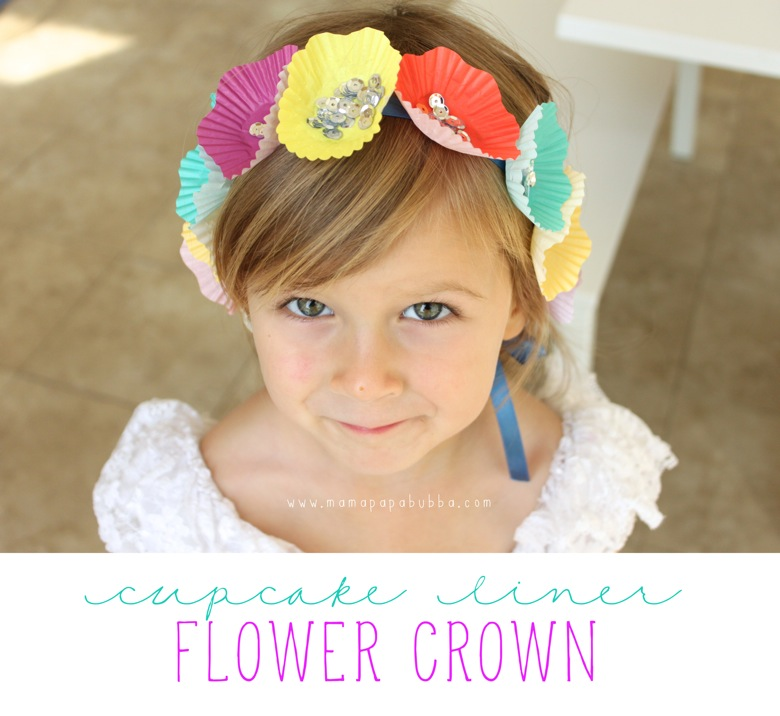 Cupcake Liner Flower Crown | Mama Papa Bubba