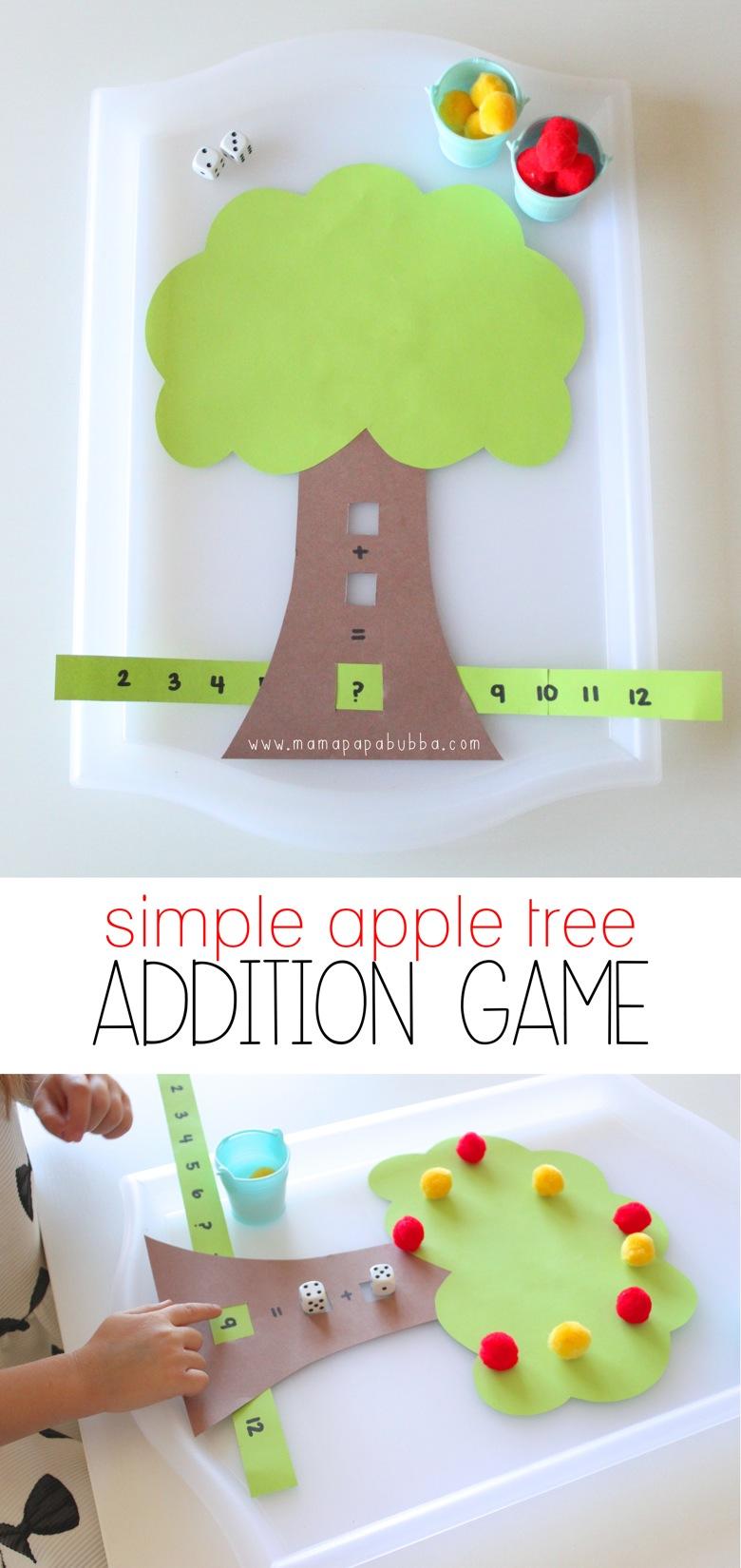Simple Apple Tree Addition Game Mama Papa Bubba