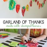 Garland of Thanks {things Miss G is thankful for 2014}