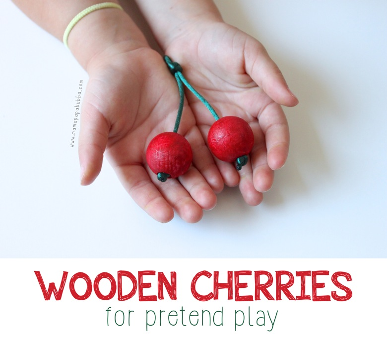 Wooden Cherries for Pretend Play | Mama Papa Bubba