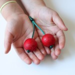 Wooden Cherries for Pretend Play