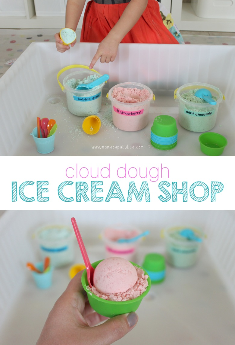 Cloud Dough Ice Cream Shop | Mama Papa Bubba