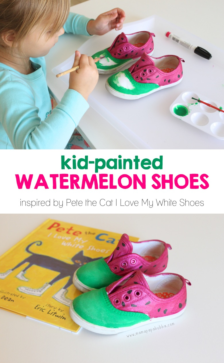 Kid Painted Watermelon Shoes | Mama Papa Bubba