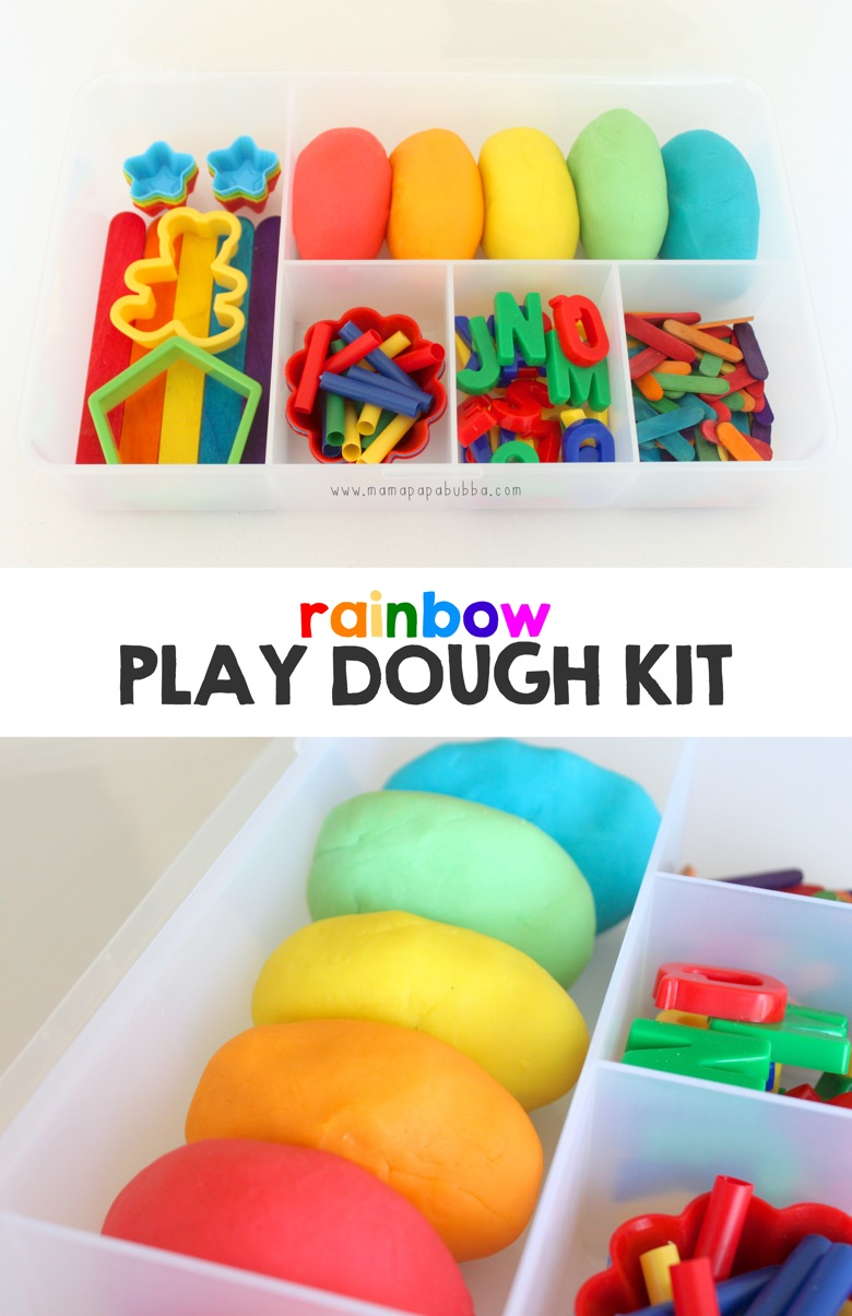 Rainbow Play Dough Kit | Mama Papa Bubba