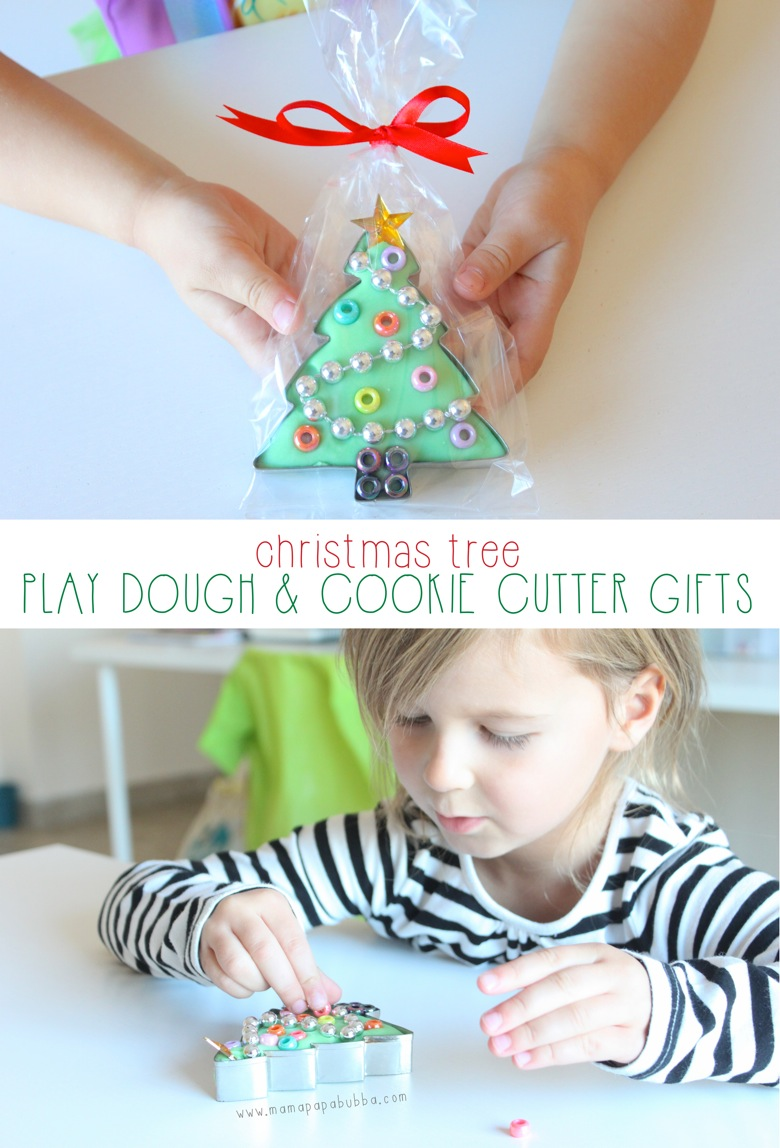 Christmas Tree Play Dough  Cookie Cutter Gifts | Mama Papa Bubba