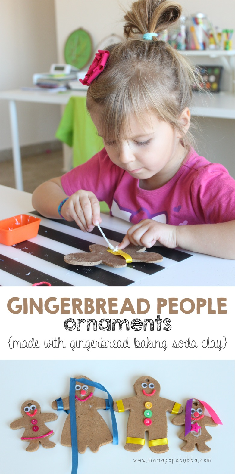 Gingerbread People Ornaments | Mama Papa Bubba
