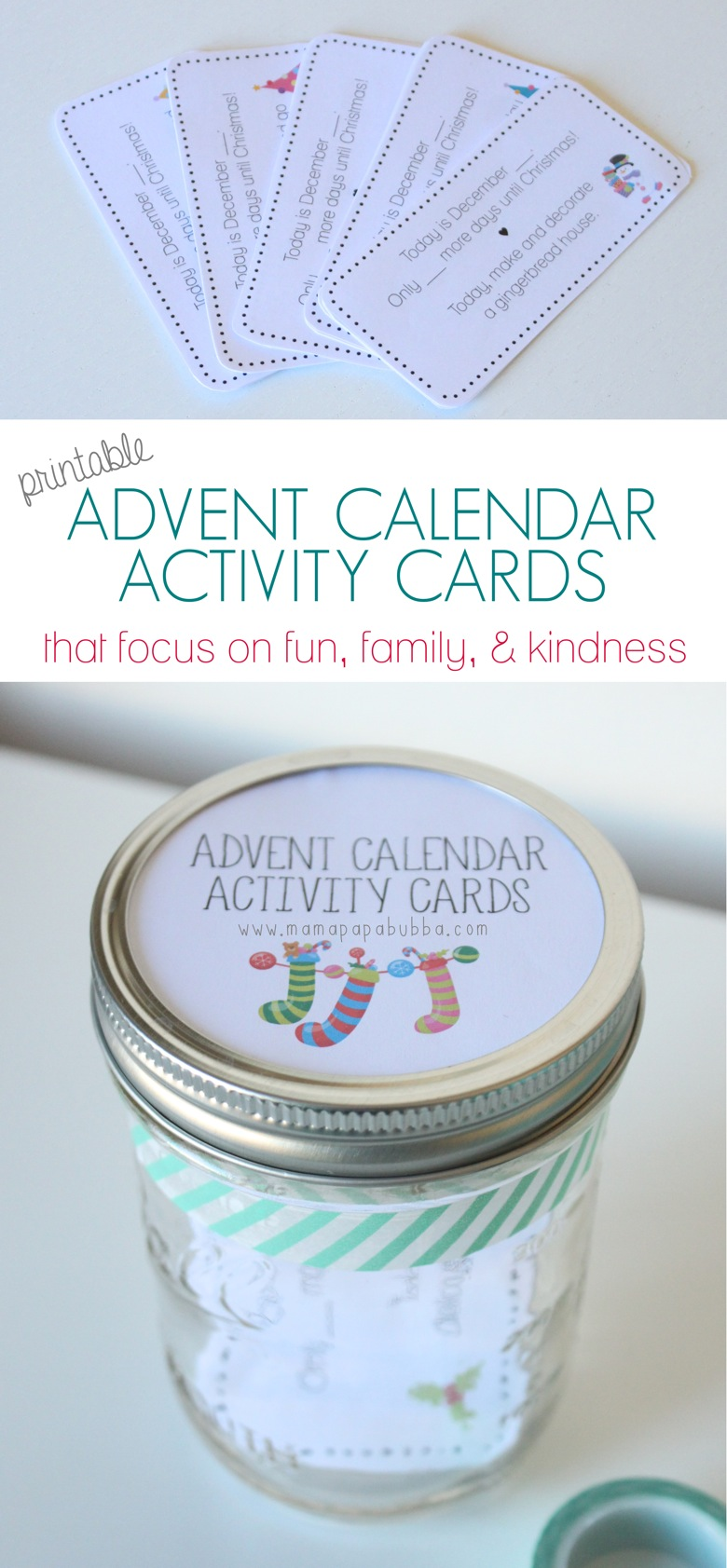 Printable Advent Calendar Activity Cards | Mama Papa Bubba